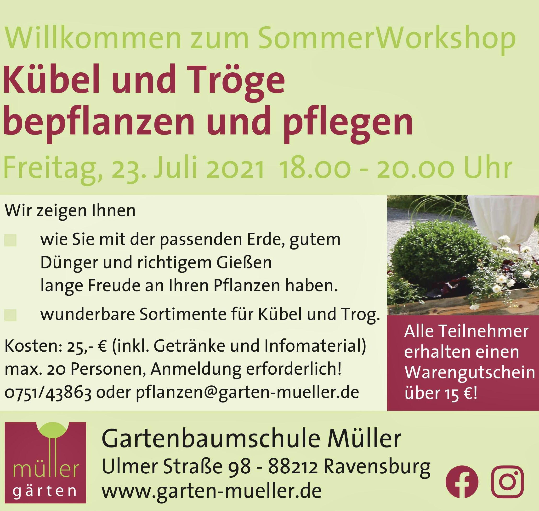 Sommerworkshop Kübel - und Trogbepflanzung