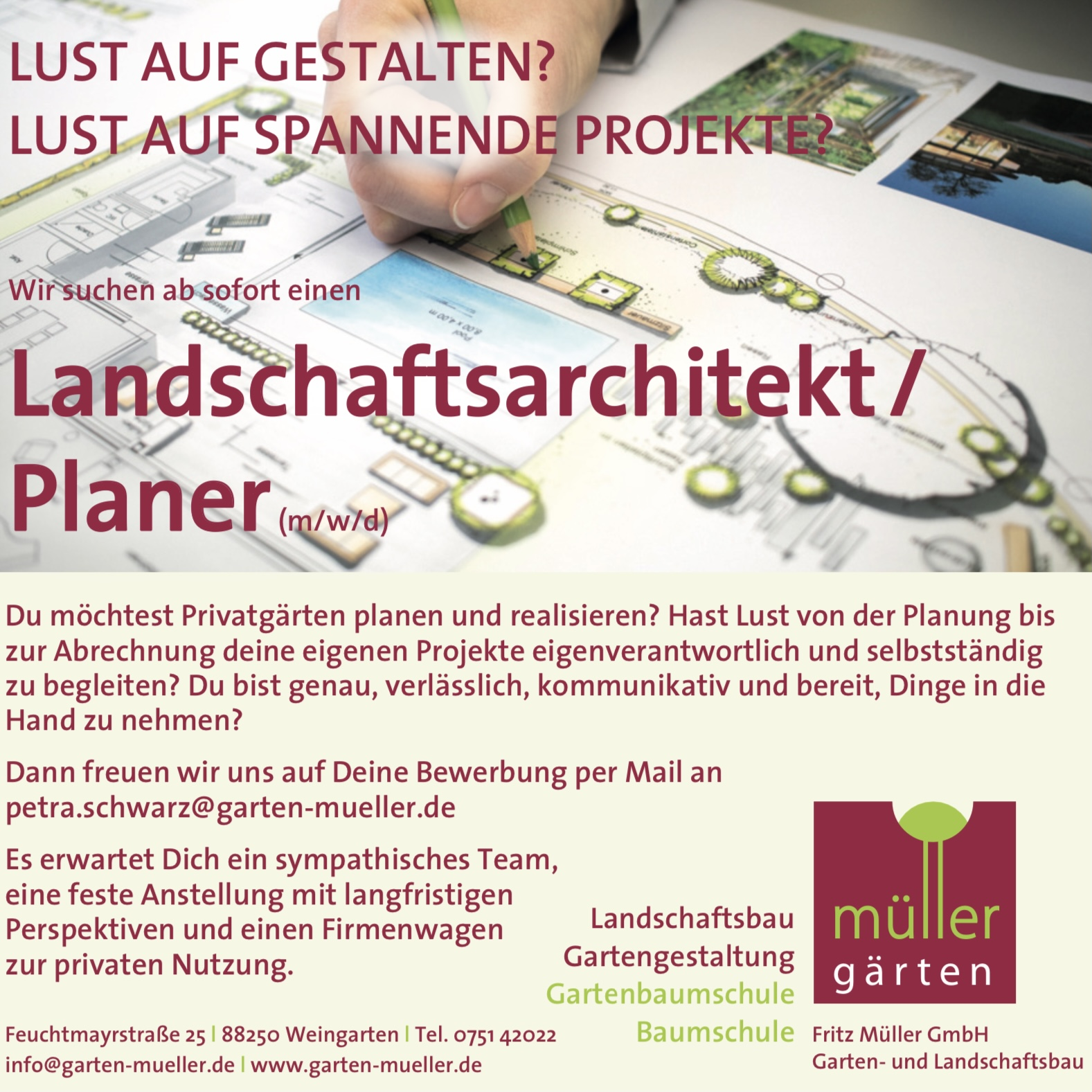 Stellenanzeige Landschaftsarchitekt:Planer (m:w:d)